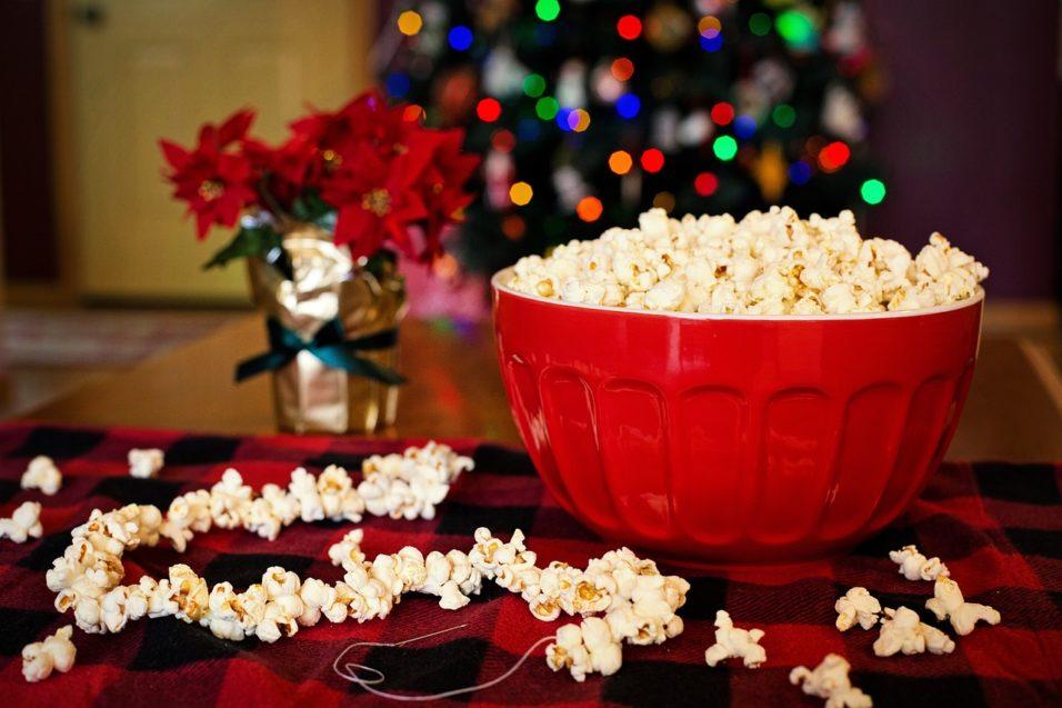 Karácsony, film, popcorn