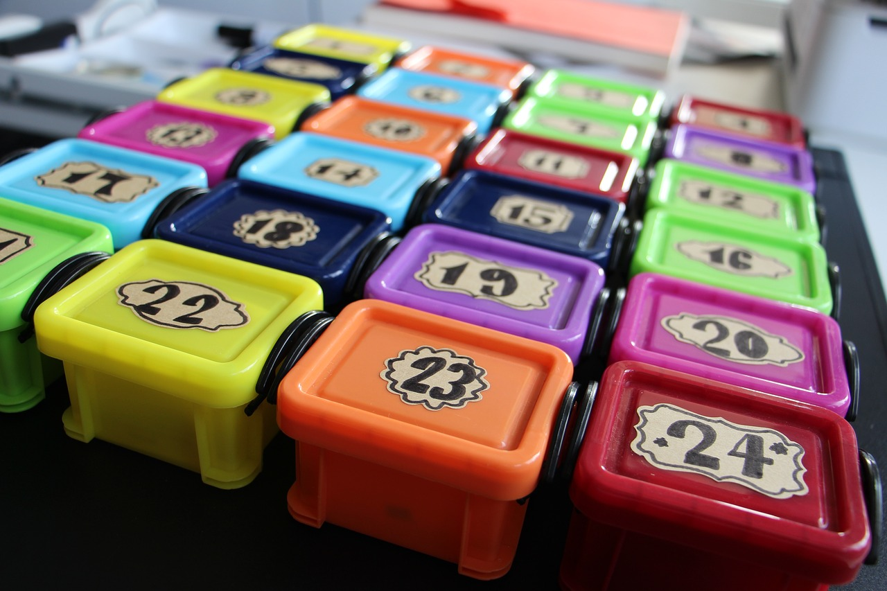 Adventi naptár dobozkák