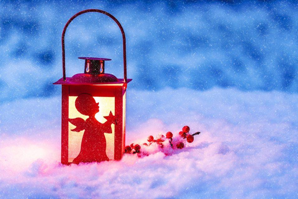 Karácsonyi lámpás