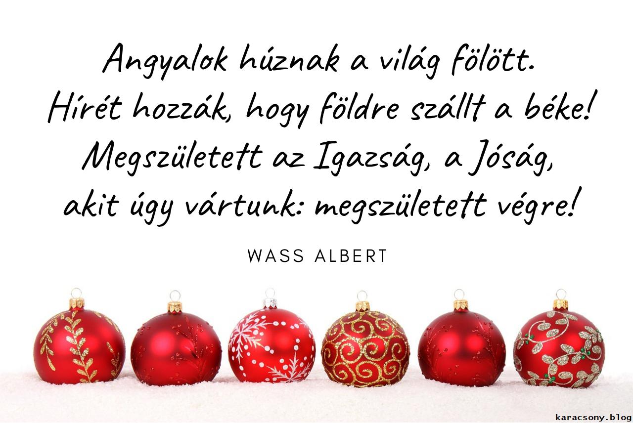 Wass Albert karácsonyi idézet