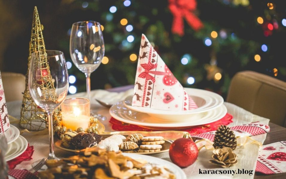 karácsonyi teríték