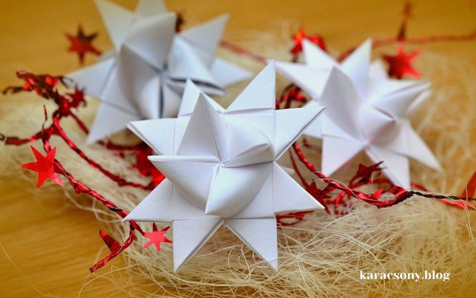 Karácsonyi díszek papírból