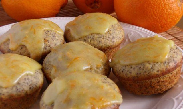 Narancsos mákos muffin